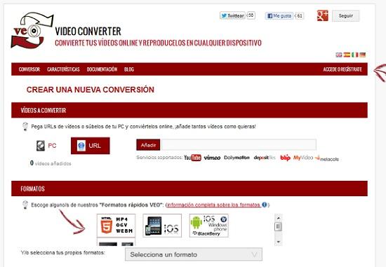 Convertir Videos Online