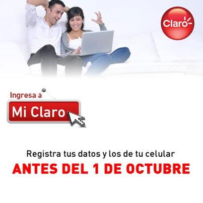 Pasos para Registrar Movil Claro – Colombia